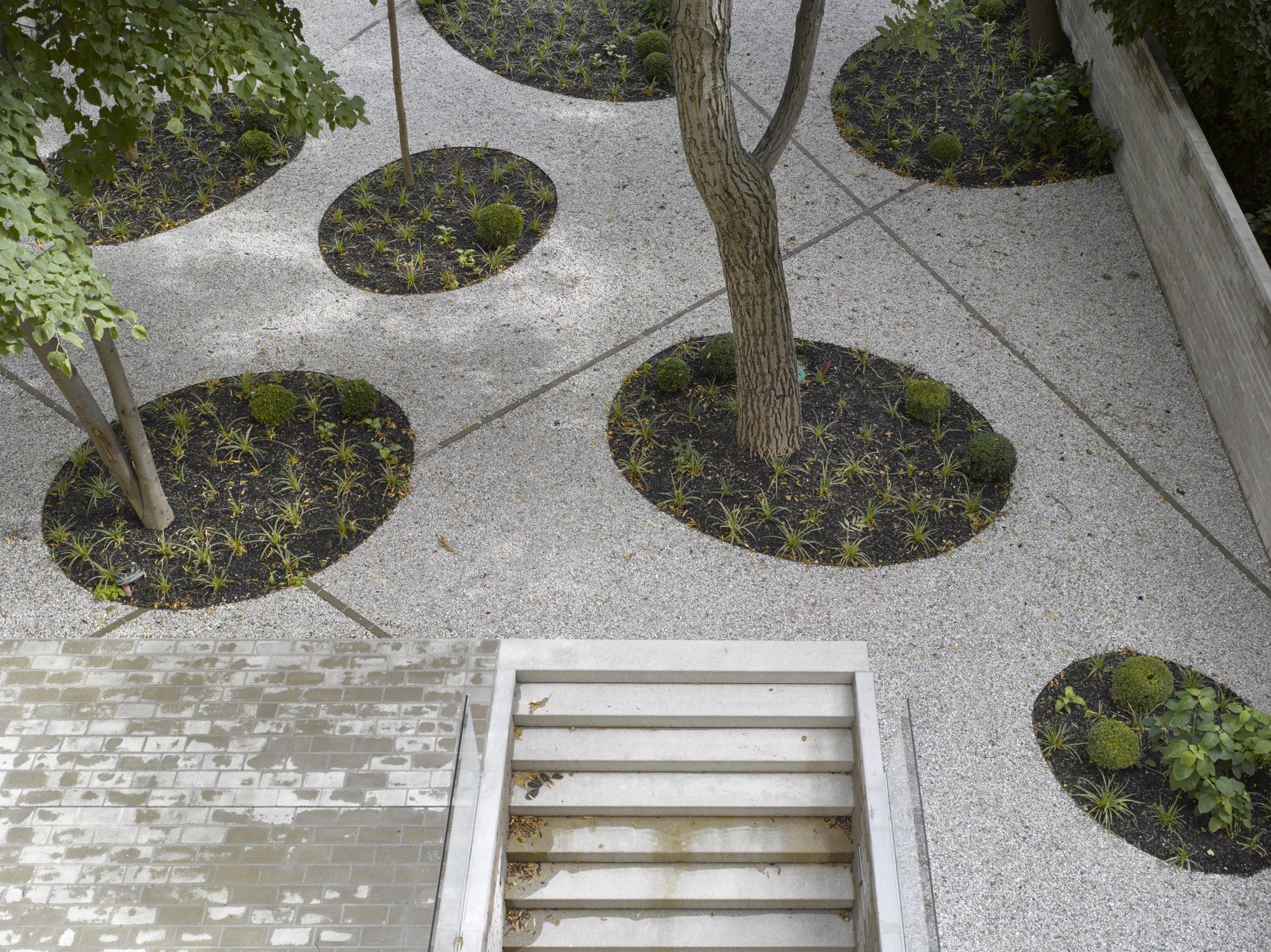 Upravená zahrada ve vnitrobloku